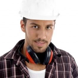 """Builder Posing With Headphone"" by imagerymajestic/FreeDigitalPhotos.net"