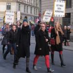 Her spadserer demonstrationen igennem Istedgade